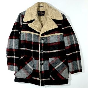 VTG Campus Outerwear Wool Sherpa Lined Jacket